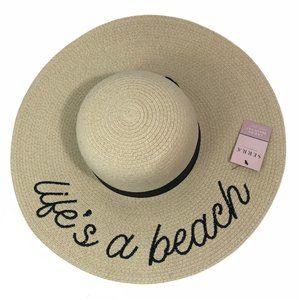 New Serra Life's A Beach Straw Beach Hat